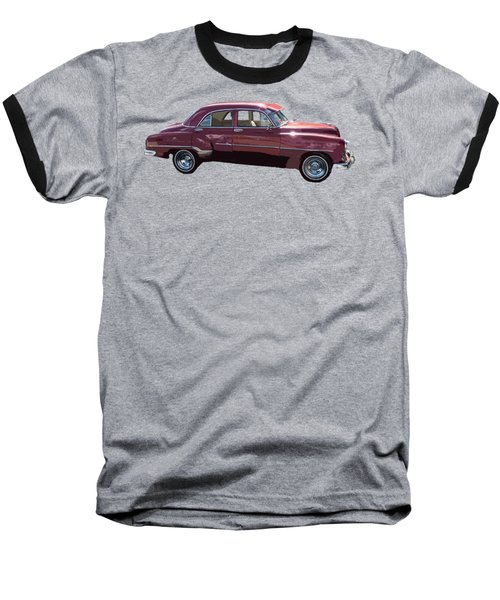 Classic Car Art In Red Baseball T-Shirt