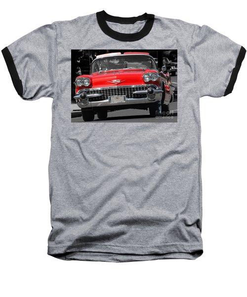 Classic Car Baseball T-Shirt by Raymond Earley