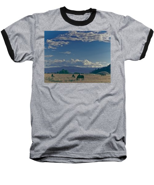Classic Country Scene Baseball T-Shirt
