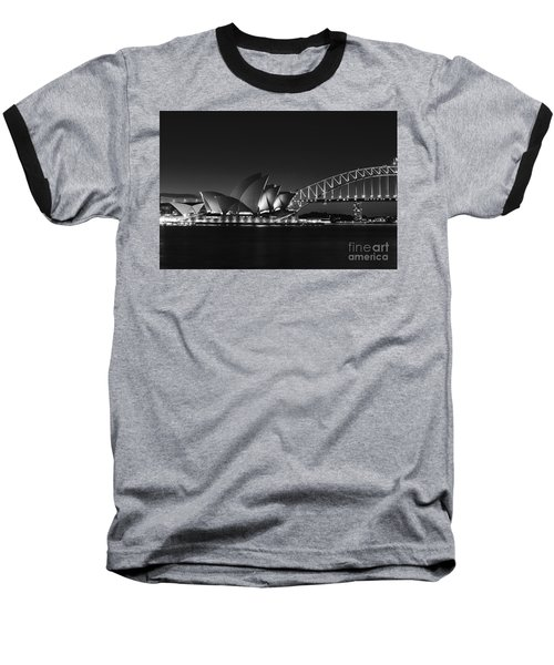 Classic Elegance In Bw Baseball T-Shirt by Andrew Paranavitana