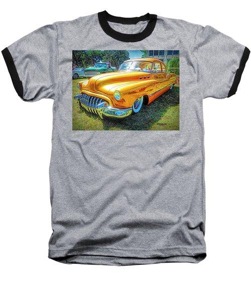 Classic Fifties Buick - Cruising The Coast Baseball T-Shirt