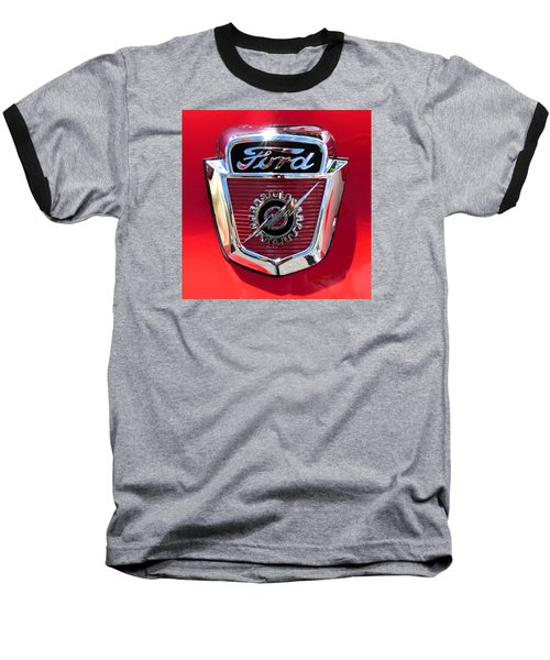 Baseball T-Shirt featuring the photograph Classic Ford Logo by Spyder Webb