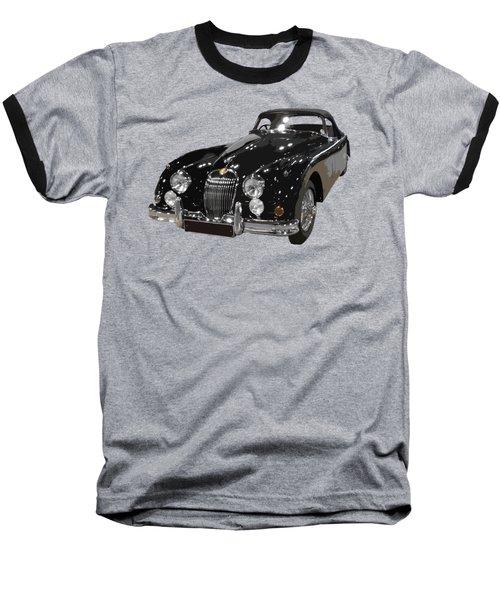 Classic Jaguar In Black Art Baseball T-Shirt