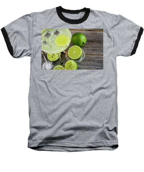 Baseball T-Shirt featuring the photograph Classic Lime Margarita by Teri Virbickis