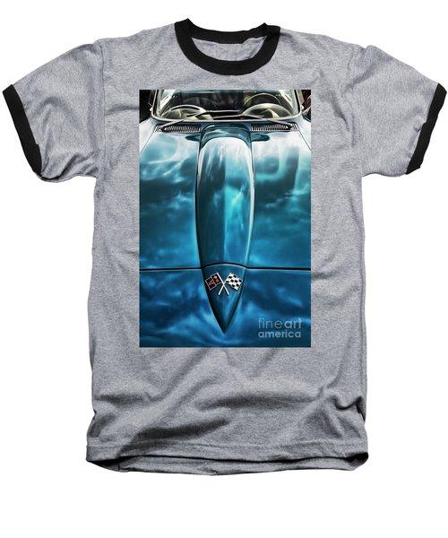 Classic Muscle - Corvette Roadster Baseball T-Shirt