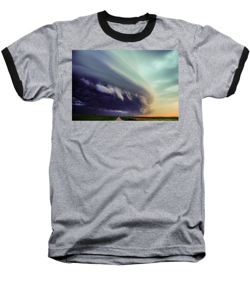 Classic Nebraska Shelf Cloud 027 Baseball T-Shirt