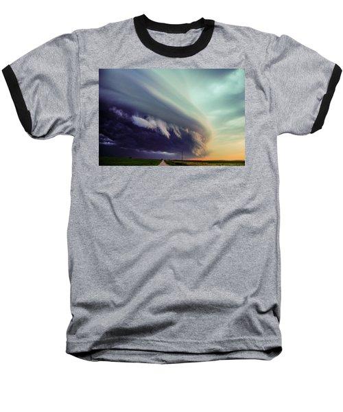 Classic Nebraska Shelf Cloud 027 Baseball T-Shirt