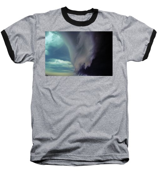 Classic Nebraska Shelf Cloud 029 Baseball T-Shirt