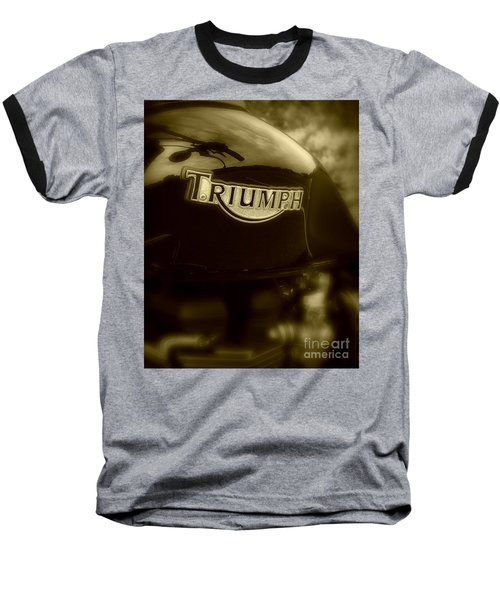 Classic Old Triumph Baseball T-Shirt by Perry Webster