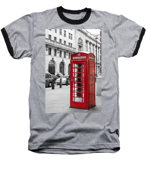 Red Telephone Box In London England Baseball T-Shirt