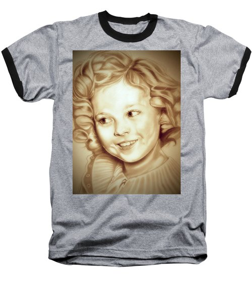 Classic Shirley Temple Baseball T-Shirt by Fred Larucci