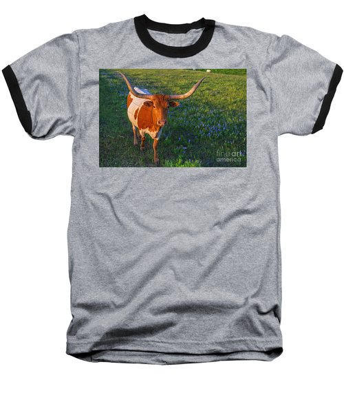 Classic Spring Scene In Texas Baseball T-Shirt by Gary Holmes