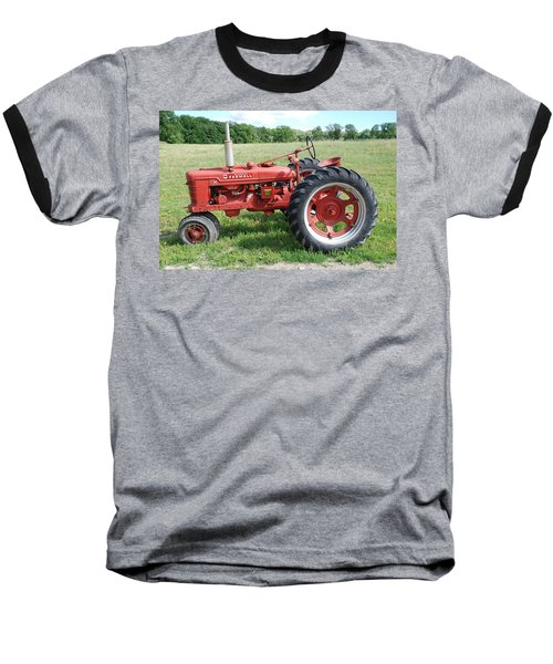 Classic Tractor Baseball T-Shirt by Richard Bryce and Family