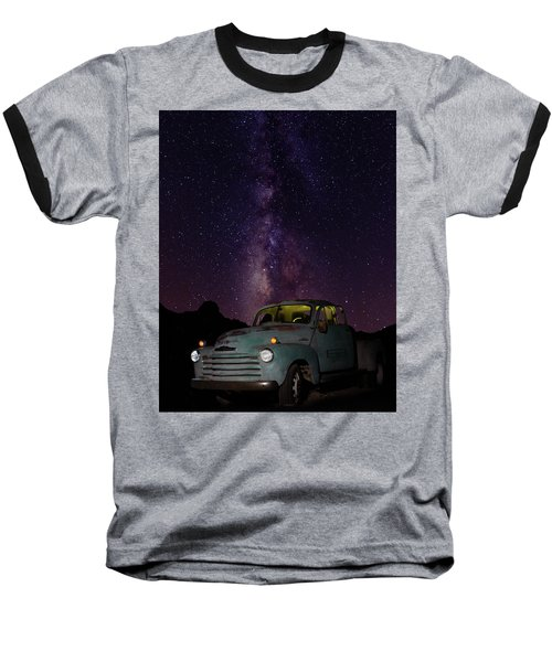 Classic Truck Under The Milky Way Baseball T-Shirt