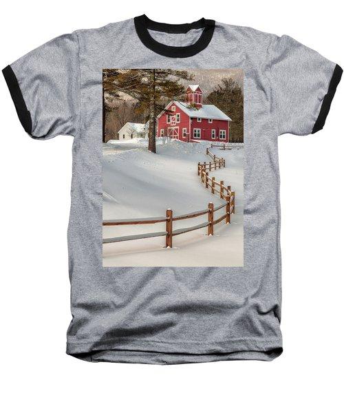 Classic Vermont Barn Baseball T-Shirt