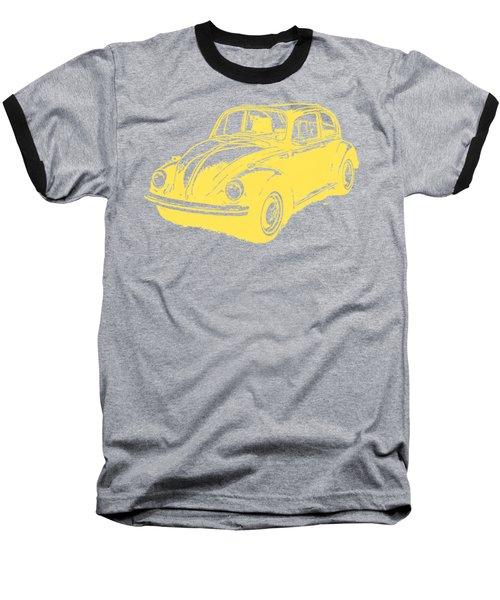 Classic Vw Beetle Tee Yellow Ink Baseball T-Shirt