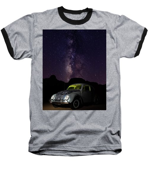 Classic Vw Bug Under The Milky Way Baseball T-Shirt