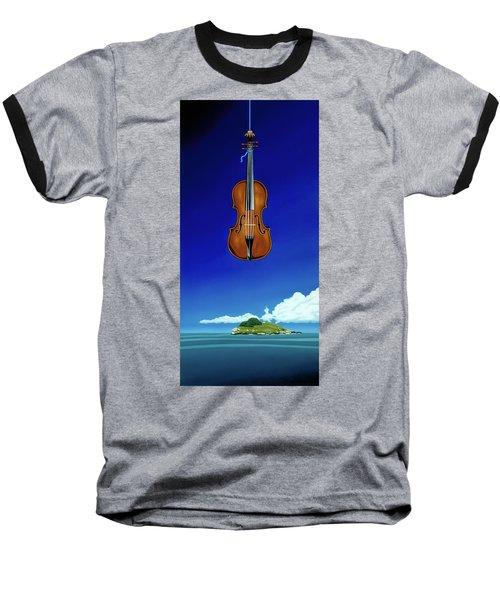Classical Seascape Baseball T-Shirt