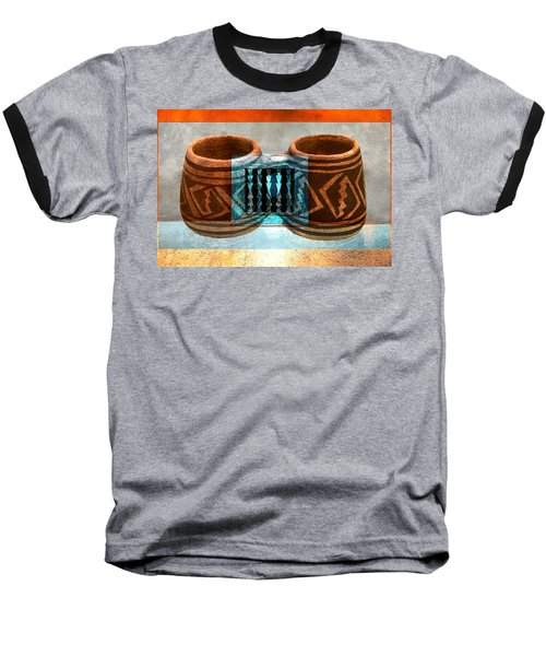 Baseball T-Shirt featuring the digital art Classsic Designs Of The Southwest by David Lee Thompson