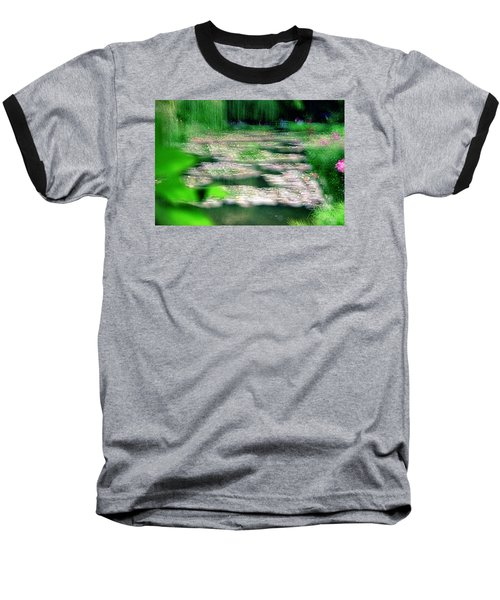 Baseball T-Shirt featuring the photograph Claude Monets Water Garden Giverny 1 by Dubi Roman