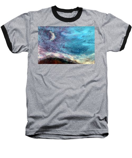 Baseball T-Shirt featuring the painting Clay Moon by Winsome Gunning