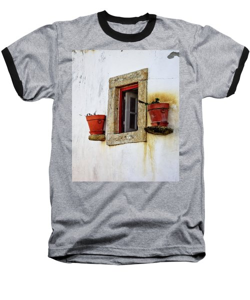 Baseball T-Shirt featuring the photograph Clay Pots In A Portuguese Village by Marion McCristall