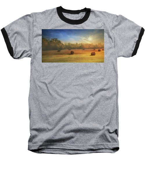 Baseball T-Shirt featuring the photograph Clayton Morning Mist by Lori Deiter