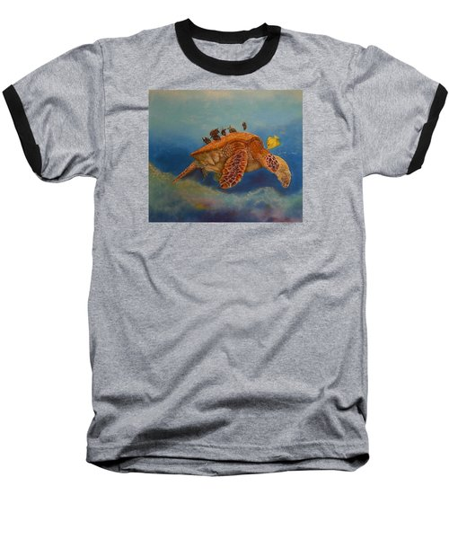 Baseball T-Shirt featuring the painting Cleaning Station by Ceci Watson