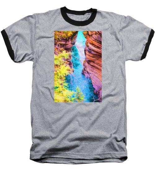 Clear Alpine Water Baseball T-Shirt