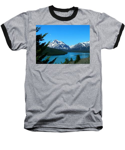 Clear Blue Lower Two Med Lake Baseball T-Shirt