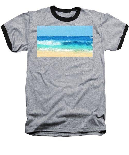 Clear Blue Waves Baseball T-Shirt