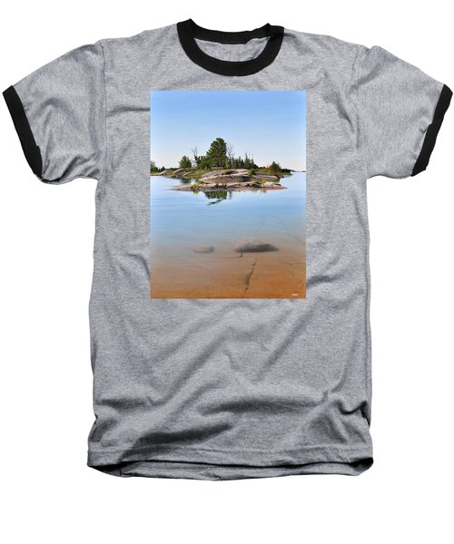 Baseball T-Shirt featuring the painting Clear Contentment by Kenneth M Kirsch