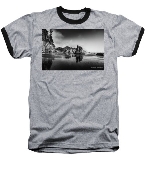 Clear Day At Ruby Beach Baseball T-Shirt