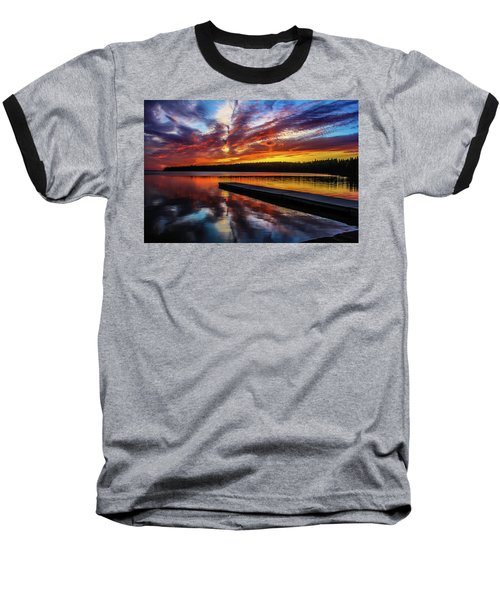 Clear Lake At Sunset. Riding Mountain National Park, Manitoba, Canada. Baseball T-Shirt