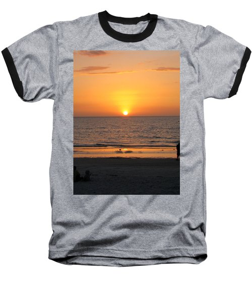 Clear Sunset Baseball T-Shirt by Clara Sue Beym