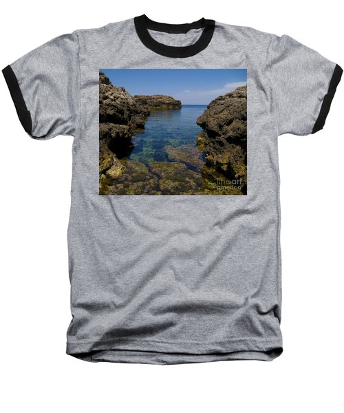 Clear Water Of Mallorca Baseball T-Shirt by Anastasy Yarmolovich