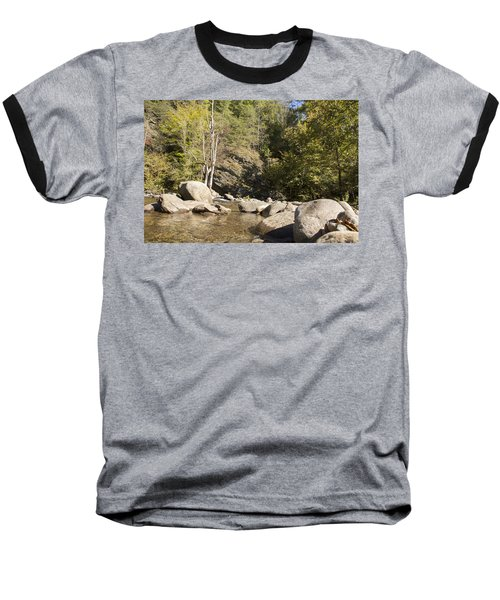 Clear Water Stream Baseball T-Shirt by Ricky Dean