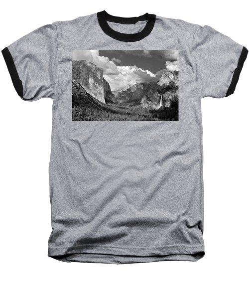 Clearing Skies Yosemite Valley Baseball T-Shirt