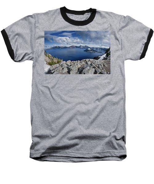 Clearing Storm At Crater Lake Baseball T-Shirt