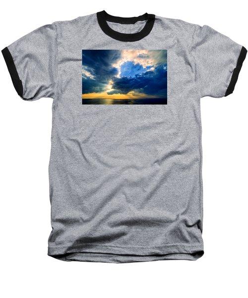 Clearing Storm Halibut Pt. Baseball T-Shirt by Michael Hubley