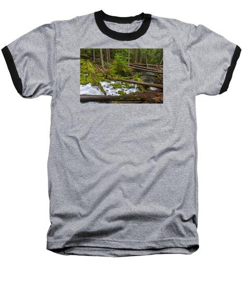 Clearwater Creek Rapids Baseball T-Shirt by Greg Nyquist
