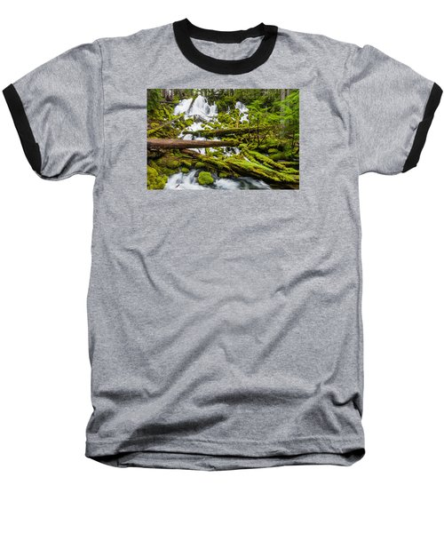 Clearwater Falls And Rapids Baseball T-Shirt by Greg Nyquist