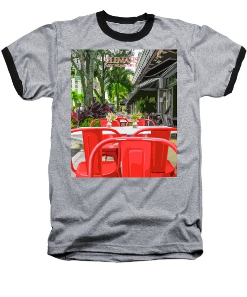 Clematis By Day Baseball T-Shirt by Josy Cue