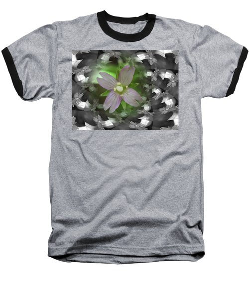 Clematis Baseball T-Shirt by Keith Elliott
