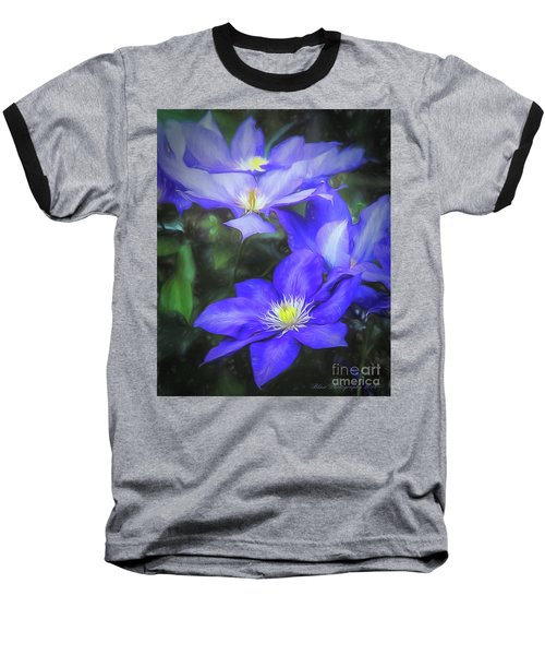 Clematis Baseball T-Shirt by Linda Blair