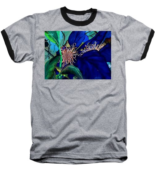 Clematis Regal In Purple And Blue Sold Baseball T-Shirt