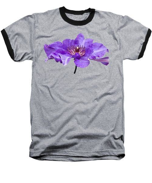 Clematis Baseball T-Shirt by Scott Carruthers