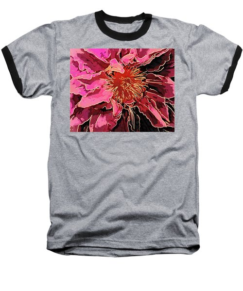 Clematis Up Close And Personal Baseball T-Shirt