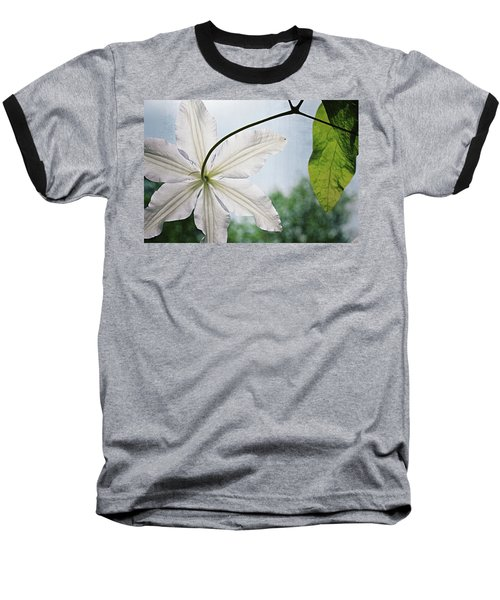 Baseball T-Shirt featuring the photograph Clematis Vine And Leaves by Michelle Calkins