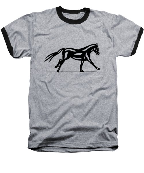 Clementine - Abstract Horse Baseball T-Shirt